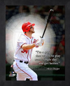 Washington Nationals Bryce Harper 8x10 Framed Pro Quote Photo