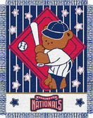 "Washington Nationals 36""x48"" Woven Baby Throw Blanket"