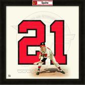 Warren Spahn Atlanta Braves 20x20 Framed Uniframe Jersey Photo