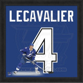 Vincent Lecavalier Tampa Bay Lightning 20x20 Framed Uniframe Jersey Photo