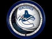 Vancouver Canucks Plasma Clock