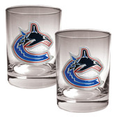 Vancouver Canucks 2pc Rocks Glass Set - Primary Logo