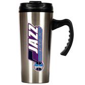 Utah Jazz 16oz Stainless Steel Travel Mug