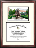 University of North Carolina, Charlotte Scholar Framed Lithograph with Diploma