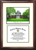 University of Delaware Scholar Framed Lithograph with Diploma