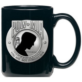 United States P.O.W. M.I.A. Black Coffee Mug Set