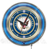 United States Navy Neon Clock