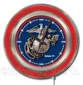 United States Marine Corps Neon Clock