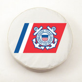 United States Coast Guard White Tire Cover, Large