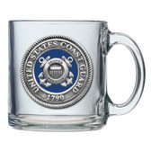 United States Coast Guard Clear Coffee Mug Set
