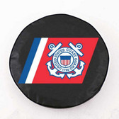 United States Coast Guard Black Tire Cover, Large