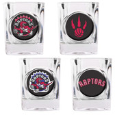 Toronto Raptors 4pc Square Shot Glass Set