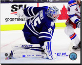 Toronto Maple Leafs Jonathan Bernier 2014-15 Action 16x20 Stretched Canvas