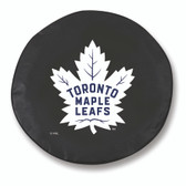 Toronto Maple Leafs Black Tire Cover, Large