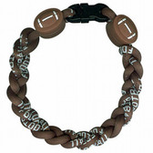 Titanium Ionic Braided Wristband - Football
