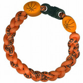 Titanium Ionic Braided Wristband - Basketball