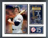 Thurman Munson #15 Number Retired Milestones & Memories Framed Photo