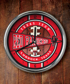Texas Tech Red Raiders Chrome Clock