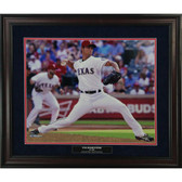 Texas Rangers Yu Darvish In The Game 20x24 Collage Framed with Authentic Ballpark At Arlington Dirt