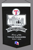 Texas Rangers Wool Stadium Banner
