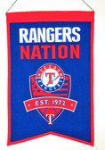 Texas Rangers Wool Nations Banner