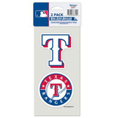 Texas Rangers Set of 2 Die Cut Decals