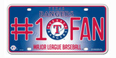 Texas Rangers License Plate - #1 Fan