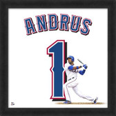 Texas Rangers Elvis Andrus 20x20 Framed Uniframe Jersey Photo