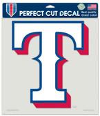 """Texas Rangers Die-Cut Decal - 8""""x8"""" Color"""