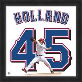 Texas Rangers Derek Holland 20x20 Framed Uniframe Jersey Photo
