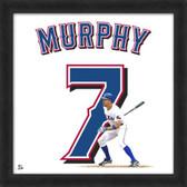 Texas Rangers David Murphy 20x20 Framed Uniframe Jersey Photo