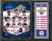 Texas Rangers 2011 American League Champions Composite Plaque