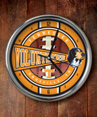 Tennessee Volunteers Chrome Clock