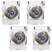 Tennessee Titans 4pc Square Shot Glass Set