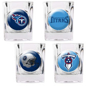 Tennessee Titans 4pc Collector's Shot Glass Set