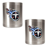 Tennessee Titans 2pc Stainless Steel Can Holder Set