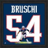 Tedy Bruschi New England Patriots 20x20 Framed Uniframe Jersey Photo