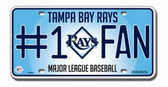 Tampa Bay Rays License Plate - #1 Fan