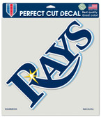 """Tampa Bay Rays Die-Cut Decal - 8""""x8"""" Color"""