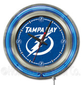 Tampa Bay Lightning Neon Clock