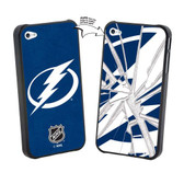 Tampa Bay Lightning iPhone 4/4S NHL Broken Glass Lenticular Case