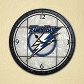 "Tampa Bay Lightning 12"" Art Glass Clock"