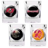 Tampa Bay Buccaneers 4pc Collector's Shot Glass Set