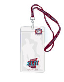 Super Bowl 42 Ticket Holder Lanyard and Pin