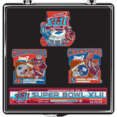 Super Bowl 42 Patriots and Giants Head to Head Pin Set