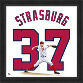 Stephen Strasburg Washington Nationals 20x20 Framed Uniframe Jersey Photo