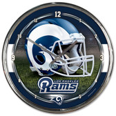 St. Louis Rams Round Chrome Wall Clock