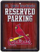 St. Louis Cardinals Metal Parking Sign