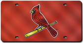 St. Louis Cardinals Laser Cut Red License Plate