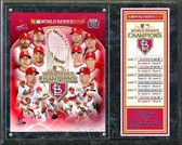 St. Louis Cardinals 2011 World Series Champions Composite Plaque
